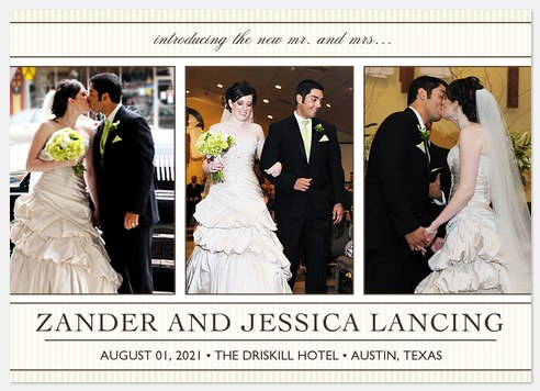 To Be Loved Wedding Announcements