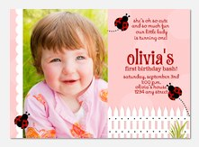 Ladybug Girl Birthday Invitations - Girl Birthday Invitations