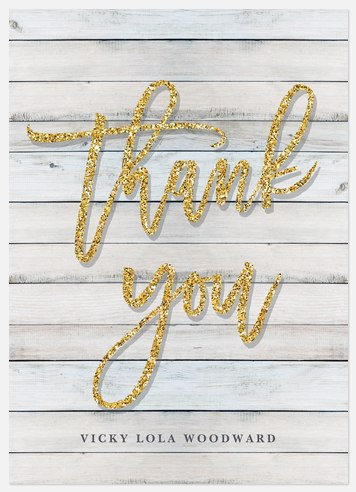 Sparkling Shiplap Thank You Cards