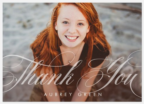 Flourished Lettering Thank You Cards