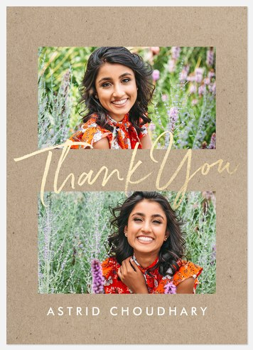 Shimmering Thank You Cards