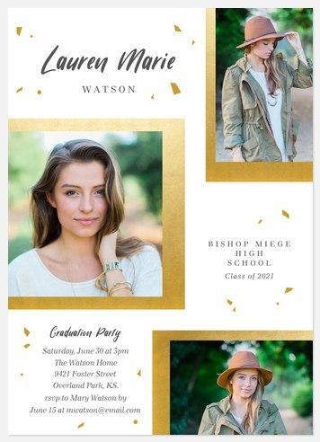 Modern Confetti Graduation Cards