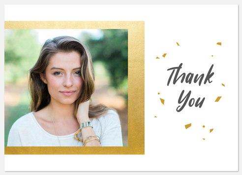 Modern Confetti Thank You Cards