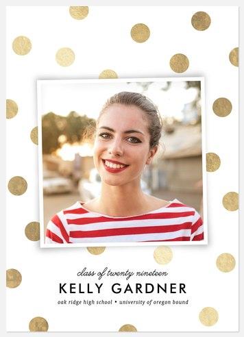 Glam Polka Dots Graduation Cards