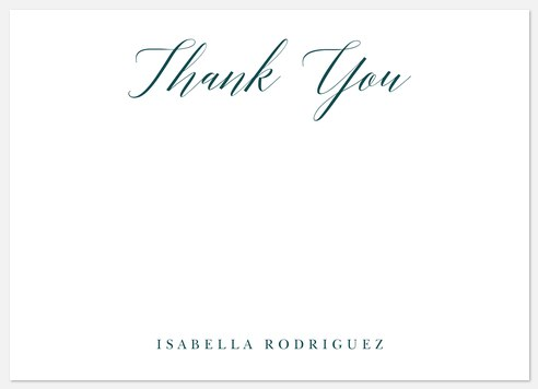 Scholarly Style Thank You Cards