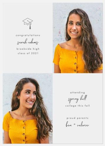 Modern Academic Graduation Cards