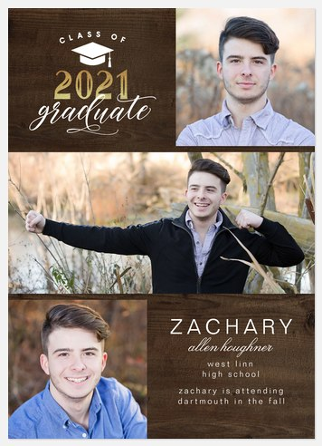 Rustic Album Graduation Cards