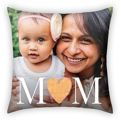 Glittering Heart Custom Pillows