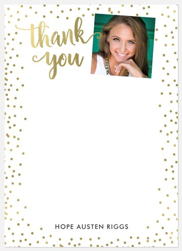 Confetti Gallery Thank You Cards