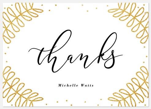 Stylish Laurels Thank You Cards