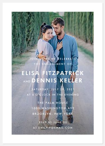 Mod Window Engagement Party Invitations