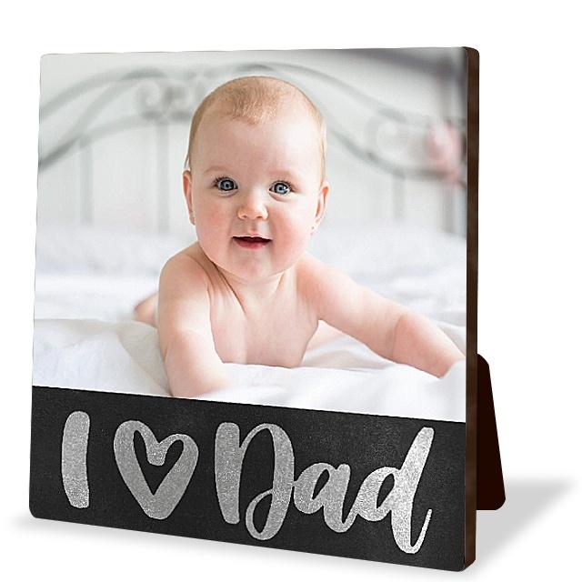 Chalkboard Dad Tabletop Photo Panel