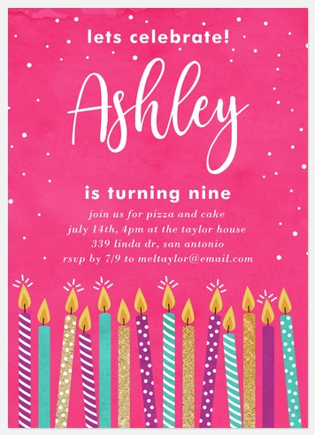 Make a Wish Kids' Birthday Invitations