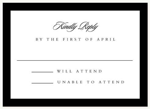 Formally Stated Wedding RSVP Cards