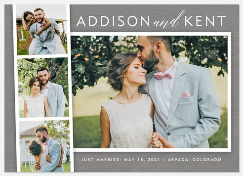 Photobooth Charm  Wedding Announcements
