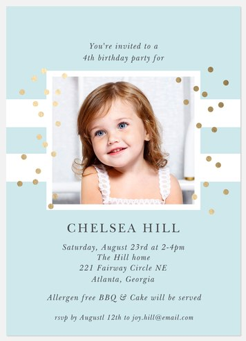 Spectacular Dots Kids' Birthday Invitations