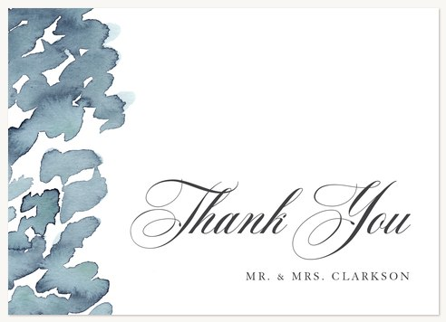 Thank You Cards , Watercolor Marks Design