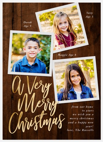 Modern Cabin Holiday Photo Cards