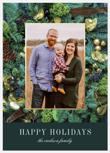 Winter Spruce Holiday Photo Cards