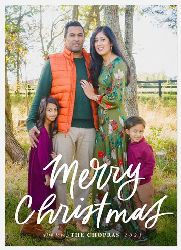 Bold Lettering Holiday Photo Cards