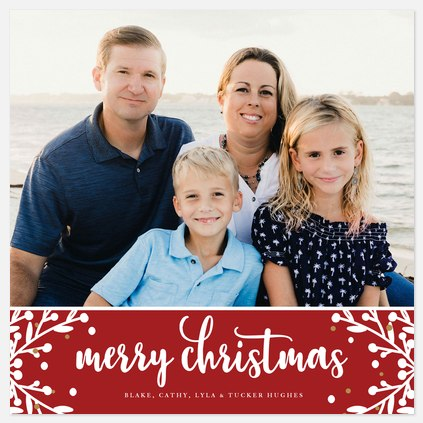 Corner Berries Holiday Photo Cards