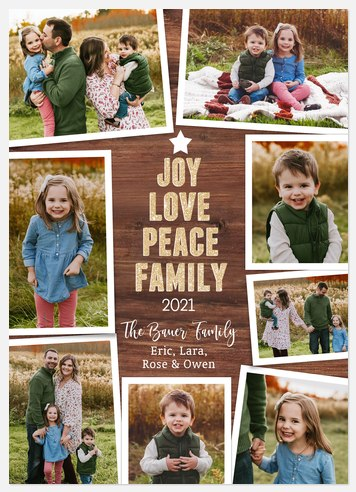 Rustic Blessings Holiday Photo Cards