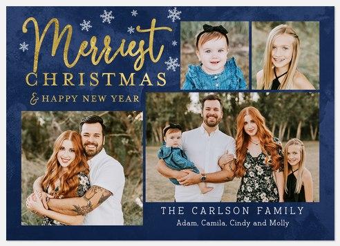 Indigo Sparkle Holiday Photo Cards