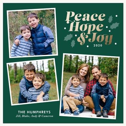 Nostalgic Trio Personalized Holiday Cards