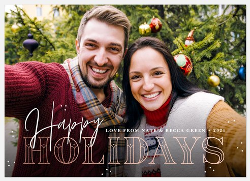 Deco Gilding Holiday Photo Cards