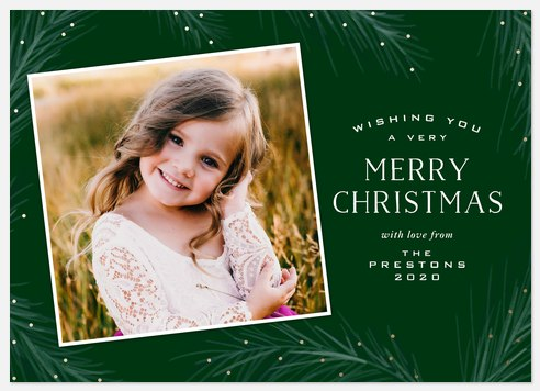 Sparkling Boughs Holiday Photo Cards