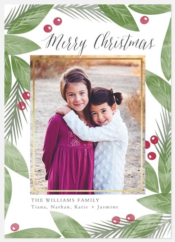 Berries & Greenery Holiday Photo Cards