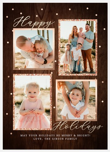 Glittering Rustica Holiday Photo Cards