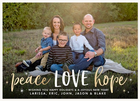 All the Love Photo Holiday Cards