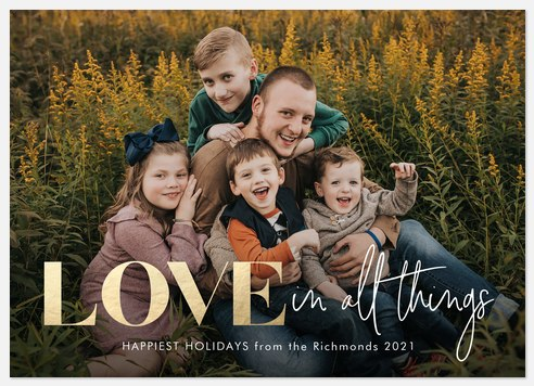 Love In All Things Holiday Photo Cards