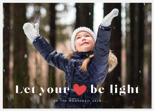 Light Heart Holiday Photo Cards