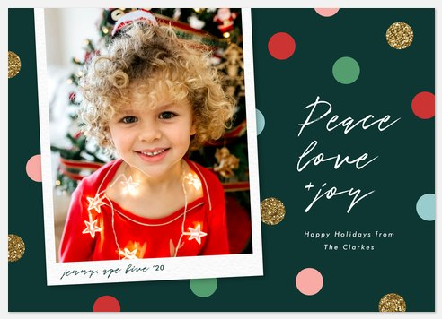 Colorful Confetti Holiday Photo Cards
