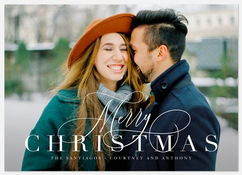 Dancing Script Holiday Photo Cards