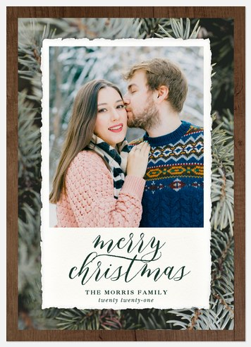 Rustic Fir Holiday Photo Cards