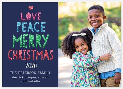 Colorful Christmas Holiday Photo Cards