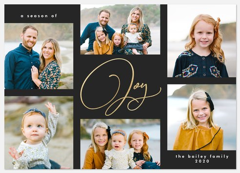 Effortless Joy Holiday Photo Cards