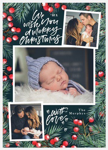 Berry Mix Holiday Photo Cards