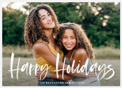 Paint Brushed Holiday Photo Cards