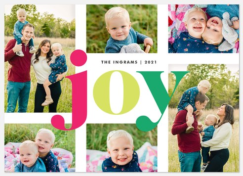 Brightly Hued Holiday Photo Cards