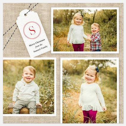 Tied Up With String Holiday Photo Cards