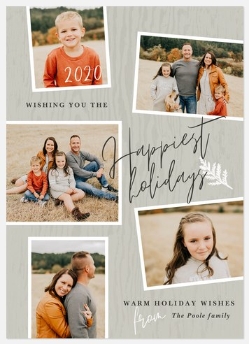 Rustic Bark Holiday Photo Cards