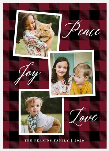 Plaid Snapshots Holiday Photo Cards