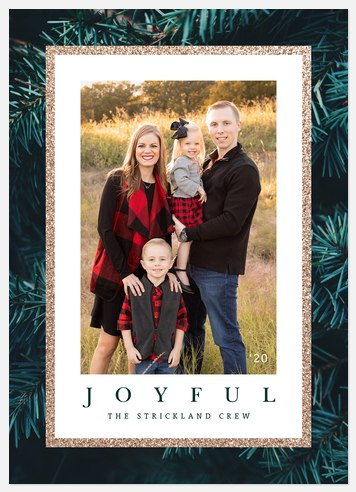 Glam Pines Holiday Photo Cards