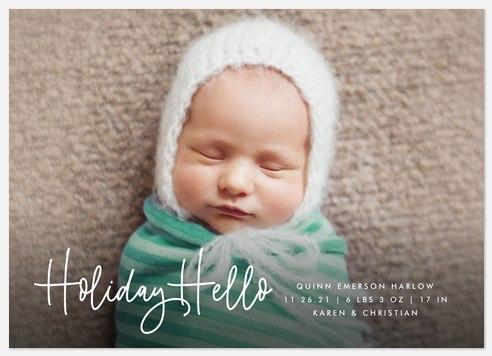 Signature Hello Holiday Photo Cards