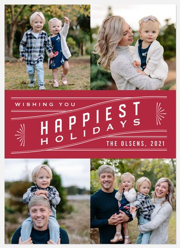 Deco Tradition Holiday Photo Cards