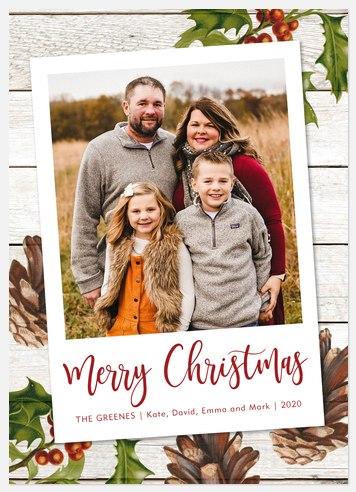 Woodland Warmth Holiday Photo Cards